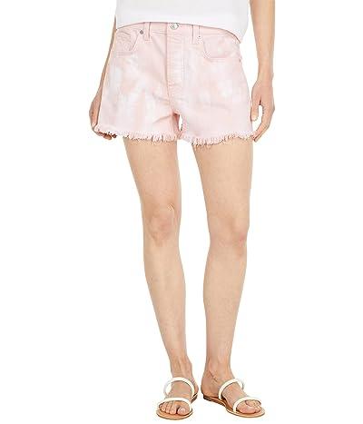 7 For All Mankind Monroe Cutoffs Shorts in Tie-Dye Pink