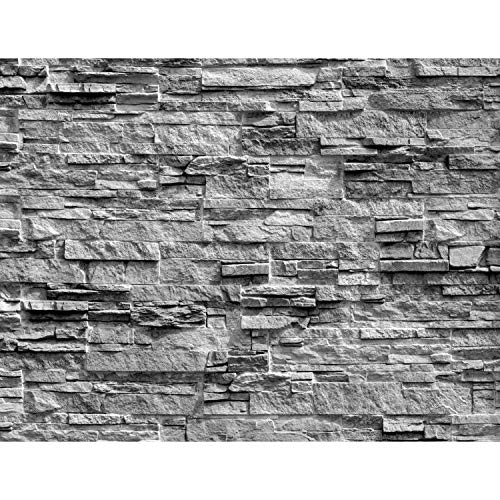 Fototapeten Steinwand 3D Effekt Grau 352 x 250 cm Vlies Wand Tapete Wohnzimmer Schlafzimmer Büro Flur Dekoration Wandbilder XXL Moderne Wanddeko 100% MADE IN GERMANY Runa Tapeten 9082011c