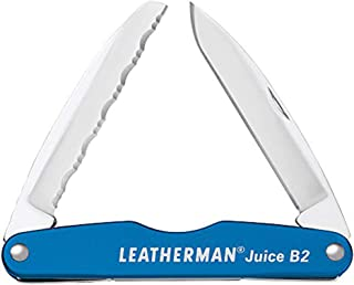LEATHERMAN - Juice B2 Lightweight Pocket Knife for Everyday Carry and Use, Columbia Blue