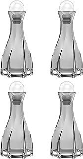 "Lewondr Glass Diffuser Bottles, 4PCS 5.9"" High 150ml 5.1fl oz Fragrance Diffuser Bottles Aroma Bottles Conical Diffusers C..."
