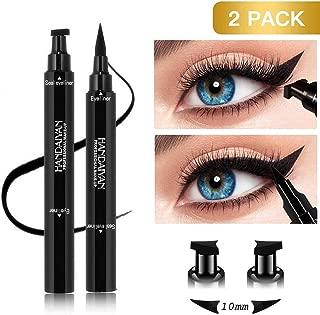 BONNIESTORE 2 Pack Dual-ended Winged Eyeliner Stamp, Waterproof Black Seal Pencil Long Lasting Wing Makeup Eye Liner Pen - 2 PACK