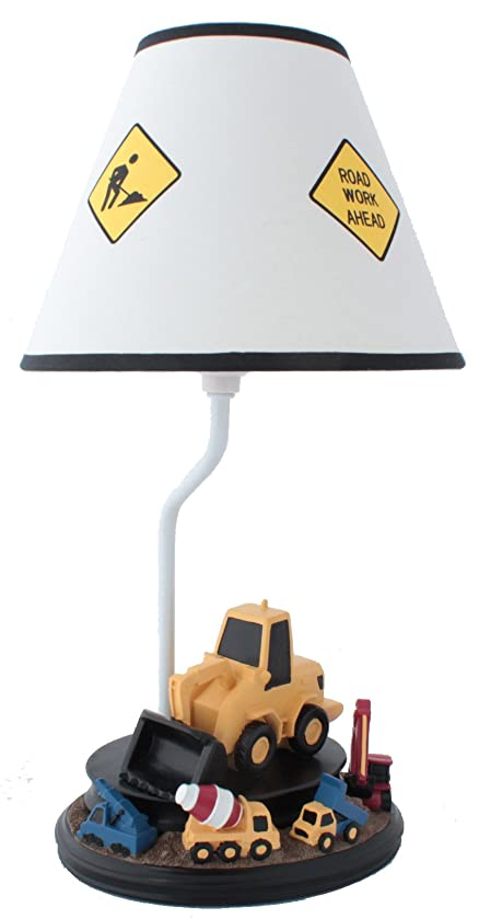 Construction Table Lamp with Matching Nightlight - Fantastic Hand Painted Details