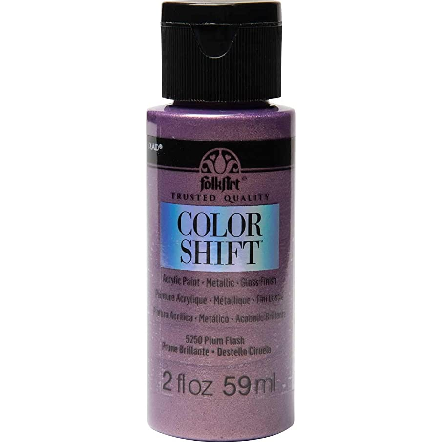 FolkArt 5250 Color Shift Paint, 2 Ounce, Plum Flash