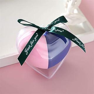 YSJJUSZ Jajko do makijażu 2 szt./zestaw gąbka do makijażu pudełko w kształcie serca materiał nielateksowy kosmetyk puder p...