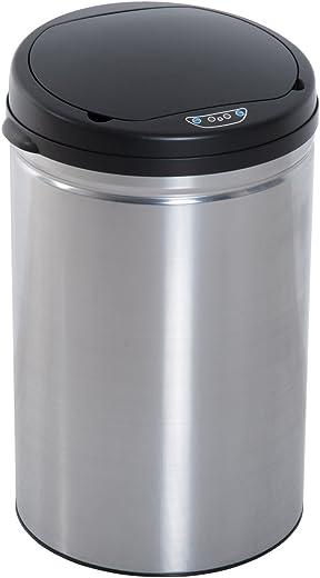 HOMCOM Edelstahl Automatik Sensor Mülleimer Abfalleimer IR Sensor mit/ohne Inneneimer rund 30 L