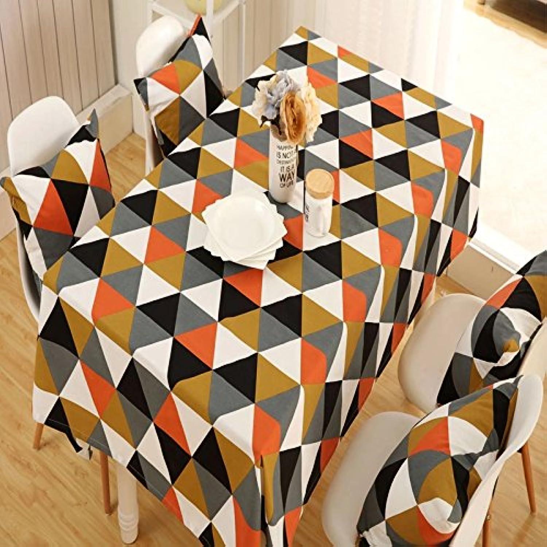 Alicemall Tischdecke Kaffeedecke Anti-stain Weich Umweltfreundlich Abwaschbar Tischtuch 140  220cm (Muster-5)