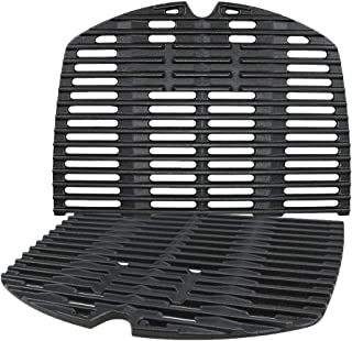 Denmay 7645 gjutjärn matlagningsgaller för Weber Q200, Q220, Q2000-serien, Q2400 gasgrill, grilldelar grillgaller ersättni...