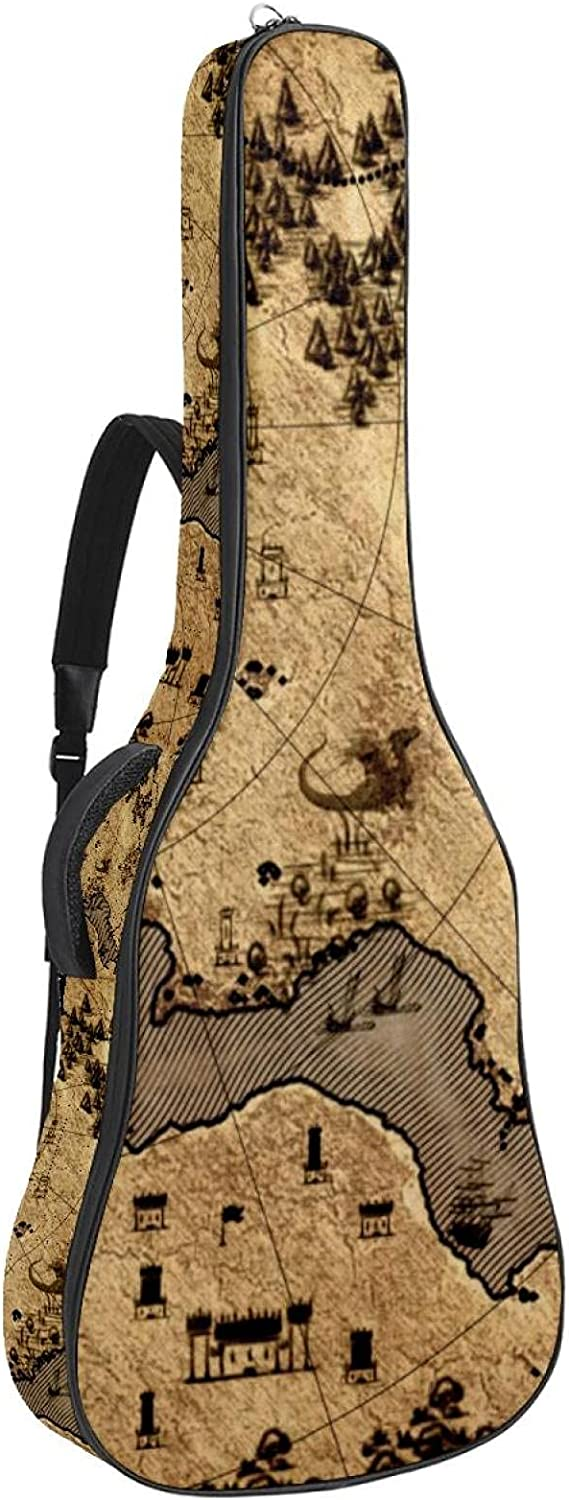 Guitar Gig Bag Retro World Map Case Inch 41 Surprise Max 42% OFF price 40