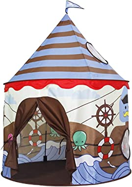 Timeless Play Tent for Kids Castle Playhouse Children Boys Viking Pattern ,Foldable Gifts Indoor Outdoor Fun Games, with Included Storage Carry Bag