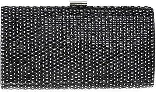 Fine Bag/Women's Hand Bags Rhinestones Elegant Stripe Clutch Shoulder Bag Party Banquet Crossbody Wallet Elegant (Color : Black, Size : One Size)