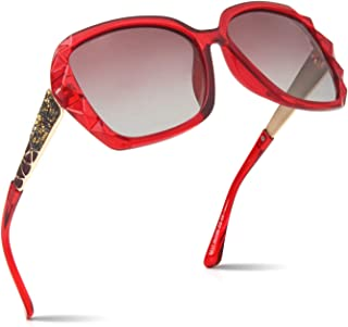Amazon.es: gafas grandes mujer - Rojo