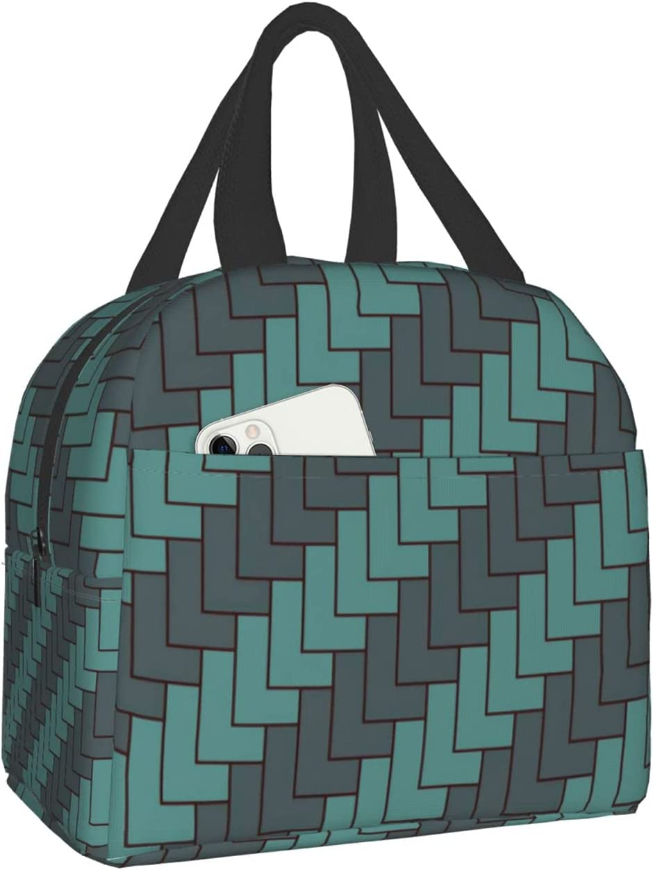 Geometric Shapes Stacked Pattern Casual Man'S Bag Woma Super sale Now on sale period limited For Lunch