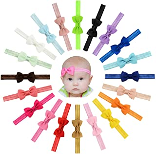 Vendas del pelo de la venda de las muchachas del bebé del Bowknot de la cinta del Grosgrain Stretch para los niños pequeños 20pcs