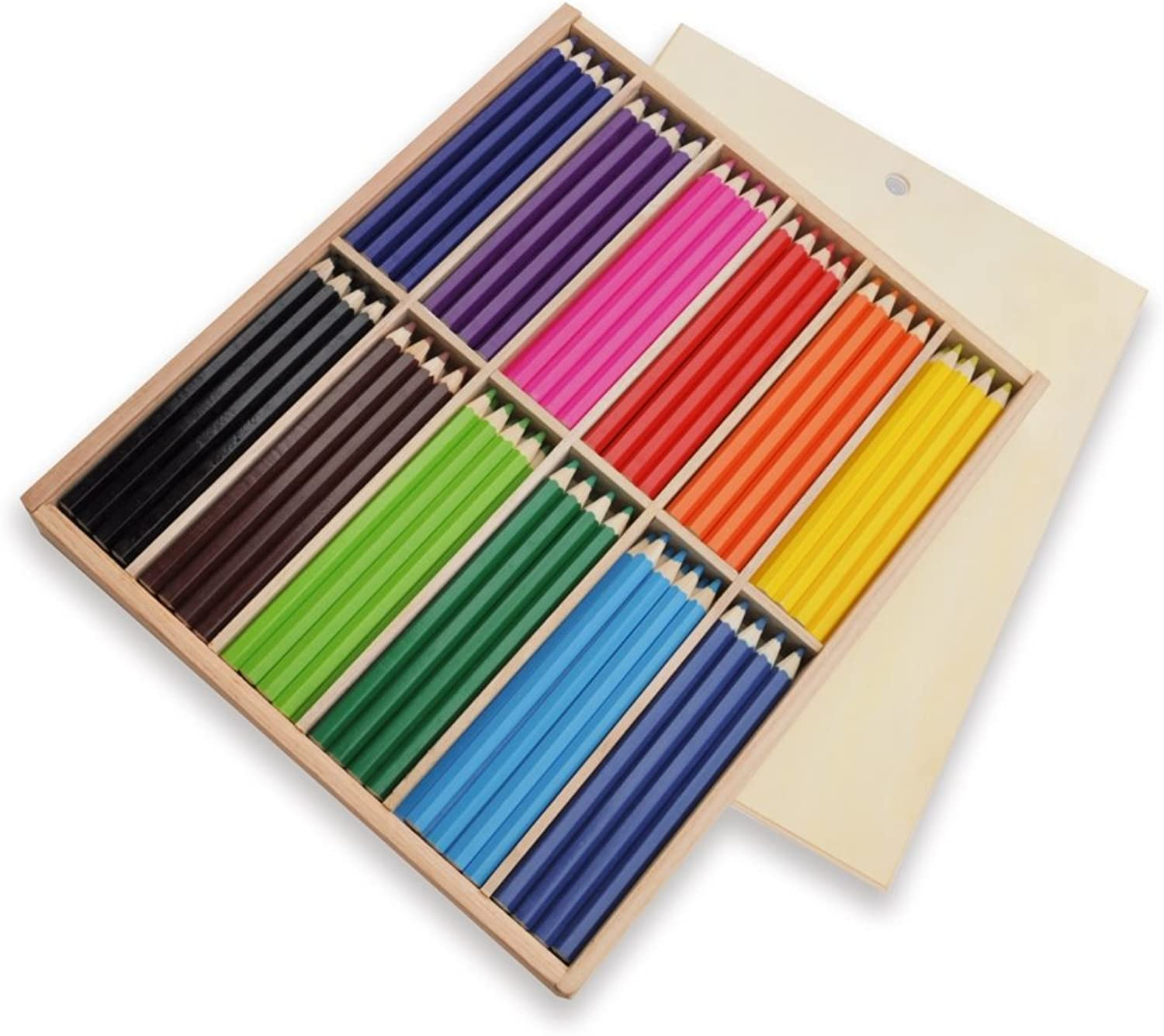 Playbox PBX2470381 2470381 Pencils, Set of 144 Pieces Big, 12 colors, Multi