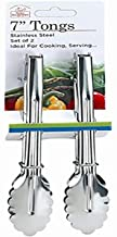 """Better Houseware 7"""" Stainless Steel Tongs, Pack of 2"""