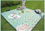 HAZ MOM Lightweight Blanket Waterproof Portable Mat for Outdoor Picnic Beach Camping Travel Kids...