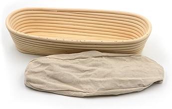 14inch Banneton Rattan Bread Proofing Basket Oval Cane Baking Bowl Brotform Bread Dough Proofing Bowl Proving Rising Bakin...
