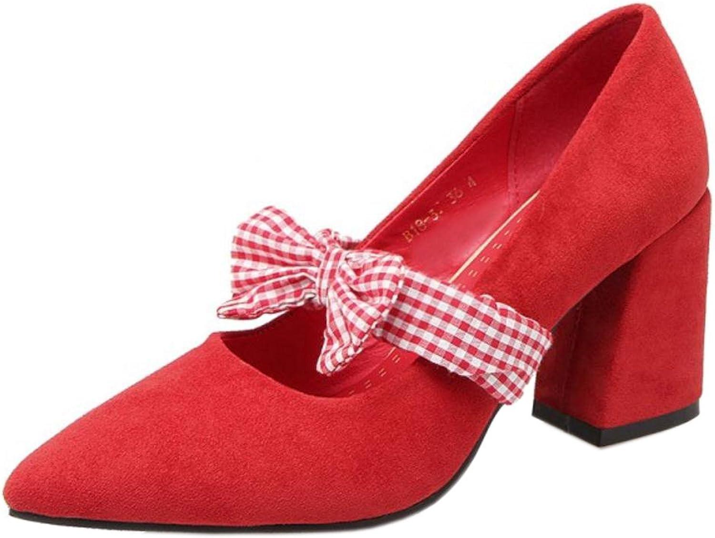 FANIMILA Women Fashion Block Heel Pumps