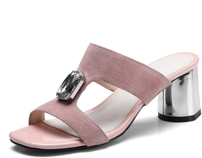 Paperane Ladies Summer Slippers Genuine Leather shoes Woman high Heels Sandals Fashion Rhinestone Wedding shoes