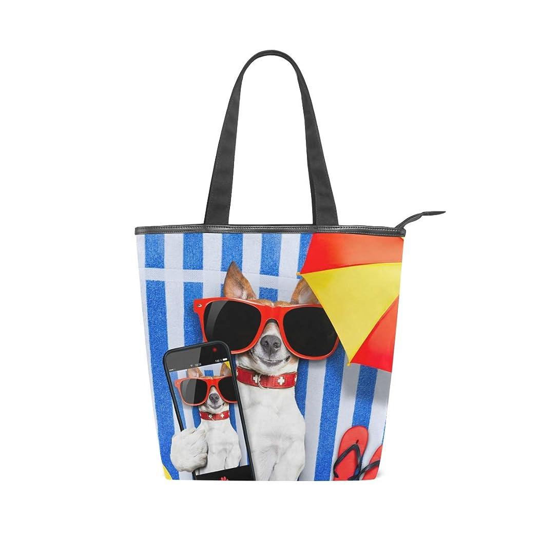 ボックスライセンス研究キャンバス バッグ トートバッグ 多機能 多用途2way犬 写真を撮る ショルダー バッグ ハンドバッグ レディース 人気 可愛い 帆布 カジュアル 多機能 両用トートバッグ ァスナー付き ポケット付 Natax