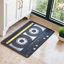 ESUPPORT Personality Tape European Welcome Doormat Entrance Floor Mat Rug Non Slip 23.6 x 15.7in, Yellow