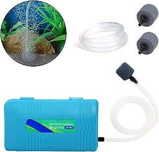 Odowalker Battery Oxygen Pump Aquarium,  Portable Air Pump Aquarium Standby Oxygen Pump SB960 with Extra 6.6 Feet Length Tubing and 2 Air Stones