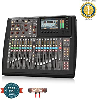 Behringer X32 Compact 40-input, 25-total-bus Digital Mixer ncludes Free Wireless Earbuds - Stereo Bluetooth In-ear and 1 Year Everything Music Extended Warranty