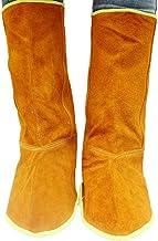 Scicalife Ghette di Saldatura in Pelle di Vacchetta Saldatura Scarpe Protettive Copertura dei Piedi per Saldatore Protezione di Sicurezza Piedi Ignifughi Blu Scuro