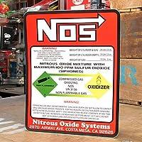 ステッカー NOS ニトロシステム WARNING サイズL_SC-015-FEE