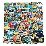 YLGG 100 Pegatinas de Graffiti Impermeables American Park para portátiles, patinetas, Maletas, Cascos, teléfonos...