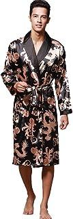 comprar comparacion Geilisungren Hombre Pijama Bata de Baño Albornoz Kimono Pijama para Hombre Largo Camisón Robe Bata Ropa de Dormir Satín Ba...