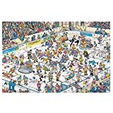 Jan Van Haasteren Hockey Game Adults and Children Intelligence Casual Games 1000 PCS Wooden Jigsaw Puzzle for Adults Teens Puzzle Game Toy Gift for Children's Family Teens Puzzle Game Toy Gift
