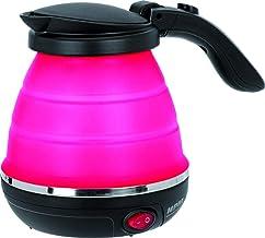MPM MCZ-73/C1 Elektrische waterkoker van siliconen, 0,5 liter, 750 W, BPA-vrij, roze