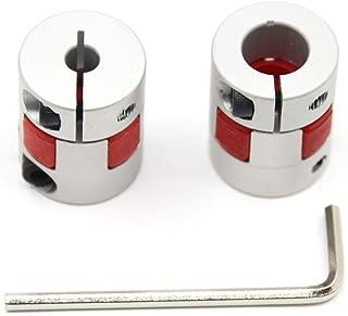 Befenybay 2PCS 5mm to 10mm Aluminium Plum Flexible Shaft Coupling Diameter 20mm Length 25mm Connector Flexible Coupler for 3D Printer CNC Machine and Servo Stepped Motor(5x10mm)