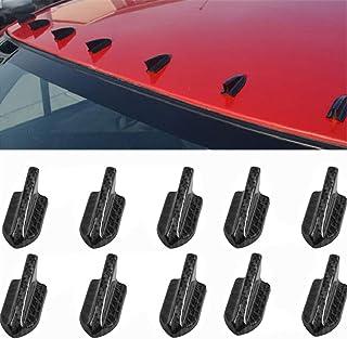 Decorazione Coda Auto zhuangyulin6 10 Pezzi Universale Auto Tetto Decorazione Coda Auto Auto Piano di Coda Auto Tetto Auto paraurti squalo Pinna generatore generatore di vortice Nero
