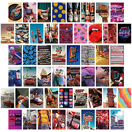 50 Piece 80s Photo Set. Ideal for creating a collage or placing on walls, doors. Could be used to create a hanging display.