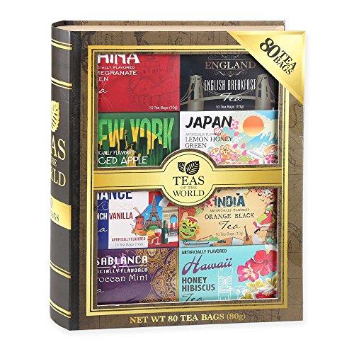Teas of the World gift set (8 box pack) 80 tea bags.