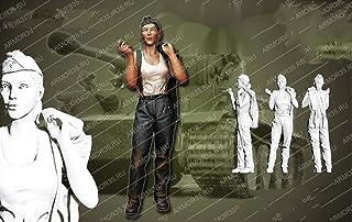 1/16 Żywica Człowiek Tank Girl Stand Historyczny Zestaw Żywiczny Miniaturowy Model Unassambled Niepomalowany