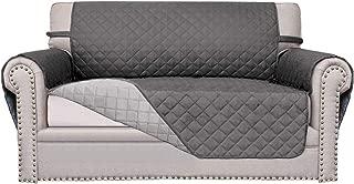 Easy-Going Sofa Slipcover Reversible Sofa Cover Furniture Protector Couch Cover Elastic Straps PetsKidsChildrenDogCat(Loveseat,Gray/Light Gray)