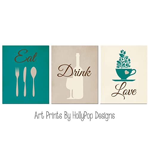 Teal and Brown Dining Room Decor: Amazon.com
