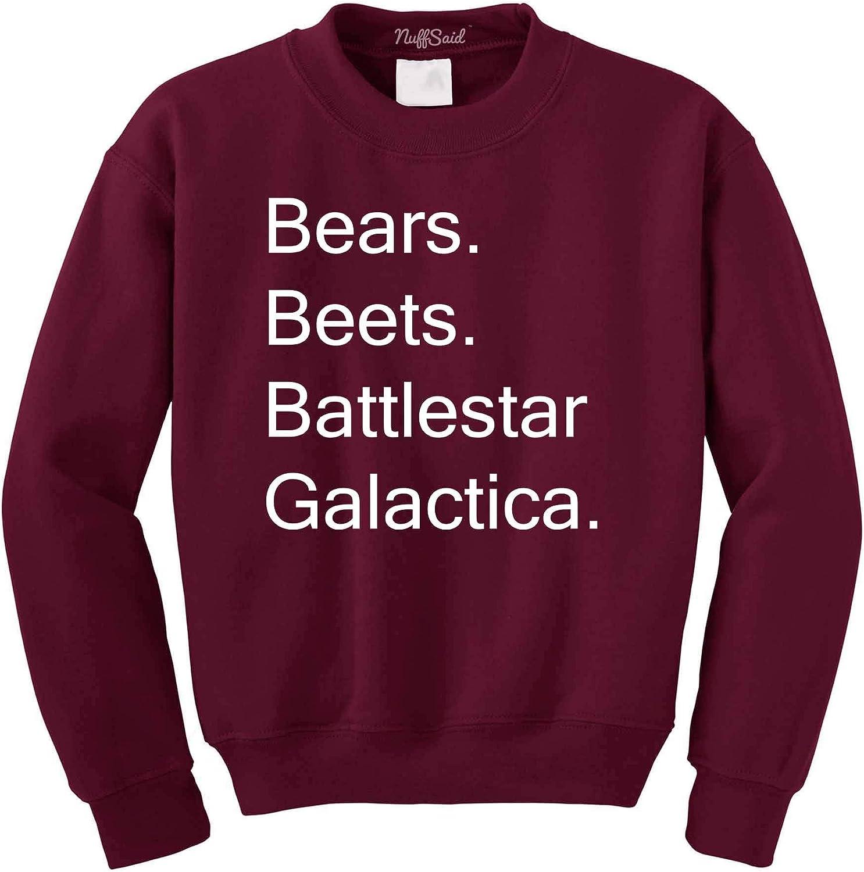 NuffSaid Beets Bears Battlestar Galactica Crewneck Sweatshirt Sw