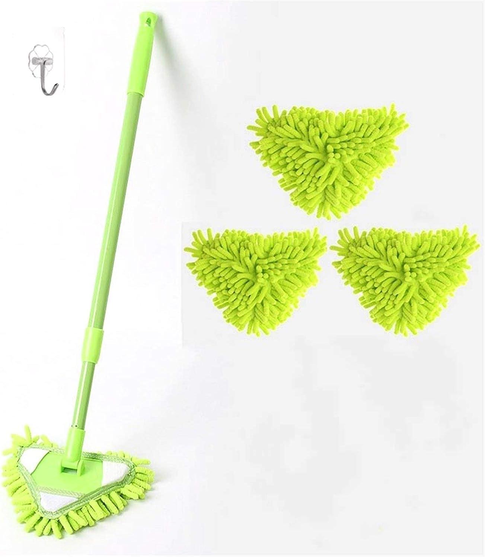 lxm Sacramento Mall Triangle Mini Green Mop Degree Rotating 180 2021new shipping free Cleani