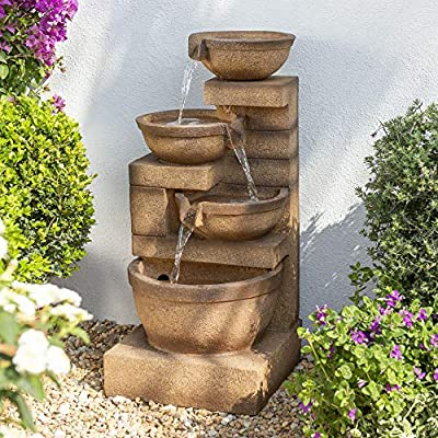 Kendal Three Tier Cascade Water Feature with Lights from Primrose