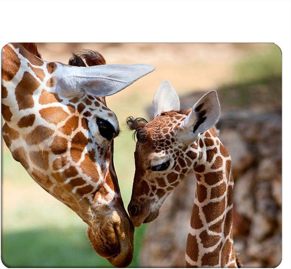 NICOKEE Ranking TOP19 Giraffe Rectangle Gaming Mom Ranking TOP17 Mousepad Lovely and