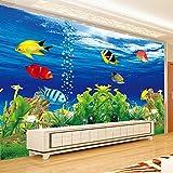 Papel Tapiz Fotográfico Personalizado 3D Estereoscópico Océano Acuario Sofá Tv Fondo Decoración De Pared Sala De Estar Mural Moderno Papel De Pared,250*175Cm