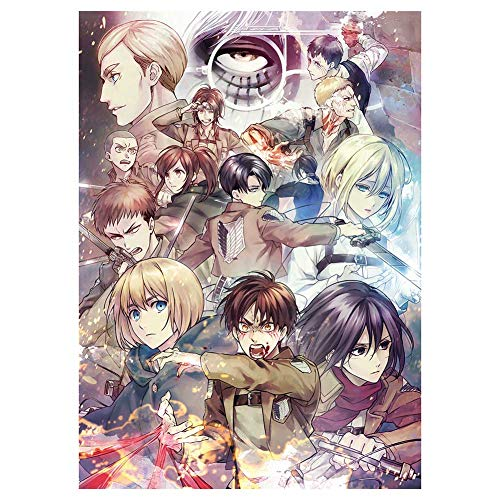 Sweet&rro17 Poster da parete Anime Attack on Titanio, decorazione da parete per soggiorno, camera da letto (motivo 8)