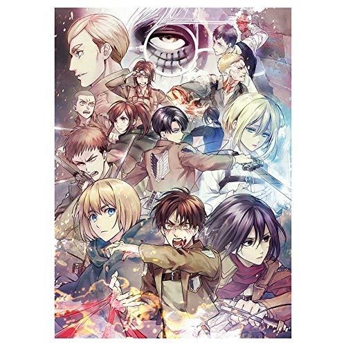 """Sweet&rro17 - Poster da parete """"Anime Attack on Titan"""", decorazione da parete per soggiorno, camera da letto (motivo 8)"""