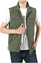 OFEFAN Men's Work Multi-Pockets Lightweight Outdoor Travel Fishing Vest