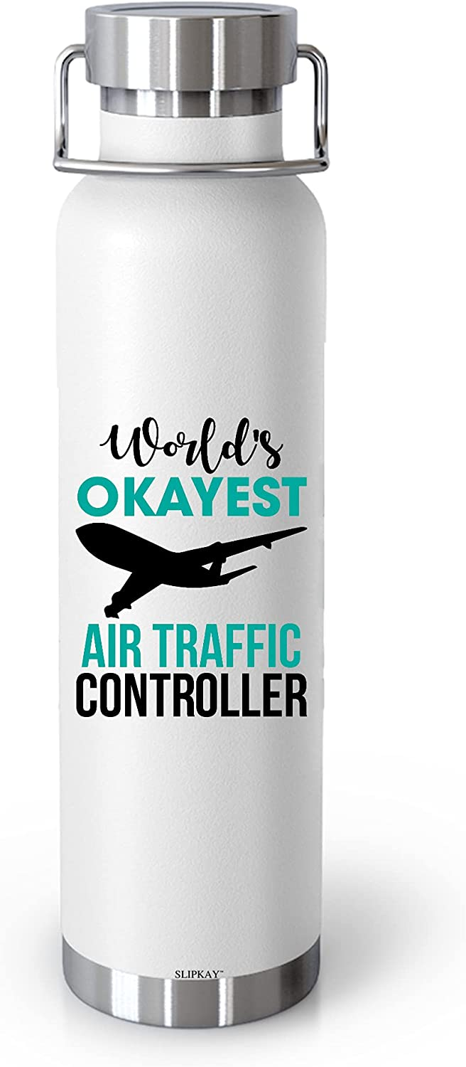 Worlds Okayes Sacramento Mall Air Traffic Controller Insulated 22oz Max 47% OFF Bottl Vacuum