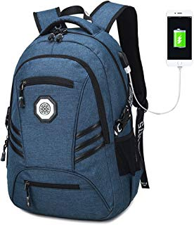 Gudui Slim Business Laptop Backpack, College School Computer Bag, Anti Thief/Tear Travel Backpacks Bookbag Backbag for Women/Men with USB Charging Port and Lock, Fits 15.6 inch Laptop and Notebook